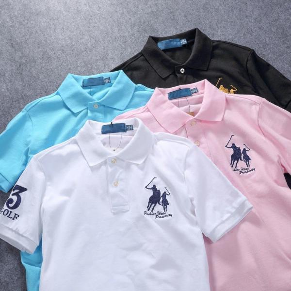 ポロシャツ メンズ 無地 刺繍入り 綿100% 柔らかい カラフル 16色展開 ゴルフウェア カジュアル 夏新作|justmode|21
