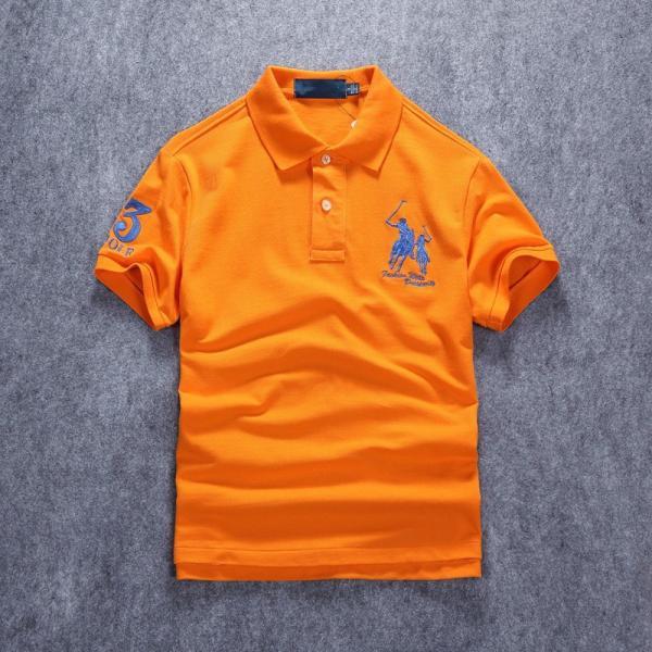 ポロシャツ メンズ 無地 刺繍入り 綿100% 柔らかい カラフル 16色展開 ゴルフウェア カジュアル 夏新作|justmode|08