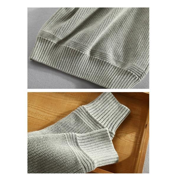 セーター メンズ ニット タートルネック ハイネック タイト 無地 シンプル トップス|justmode|10