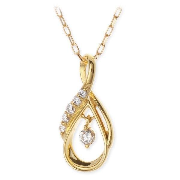 ゴールド ネックレス ダイヤモンド 彼女 記念日 ギフトラッピング スウィートローズ 誕生日 送料無料 クリスマスプレゼント|jwell