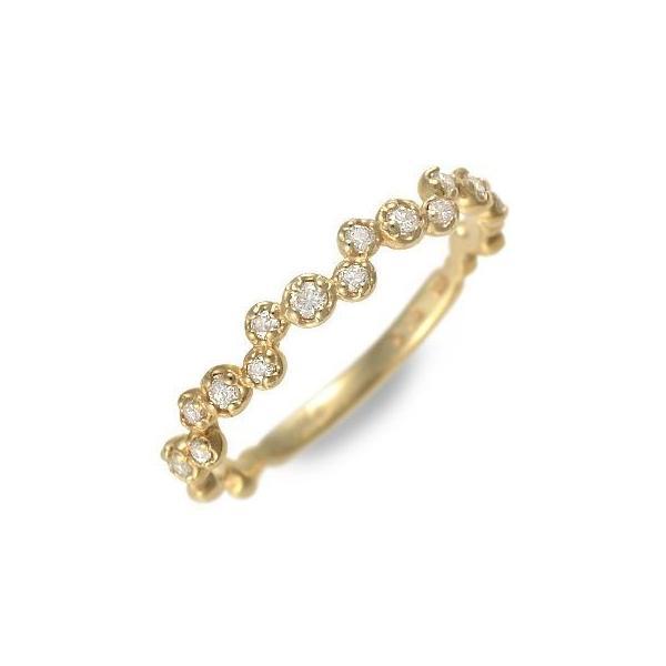 ゴールド リング 指輪 ダイヤモンド 彼女 記念日 ギフト 妻 おしゃれ かわいい Ache 誕生日 送料無料 母の日 春コーデ 入学祝い