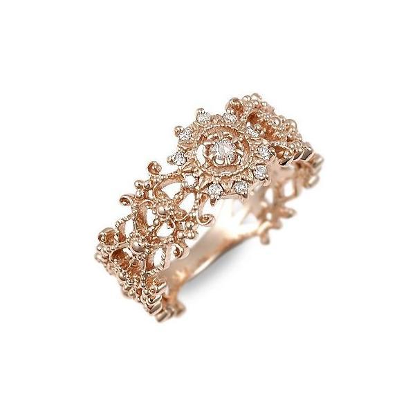 ピンクゴールド リング 指輪 ダイヤモンド 彼女 誕生日プレゼント 記念日 ギフトラッピング Ache 送料無料 母の日 春コーデ 入学祝い