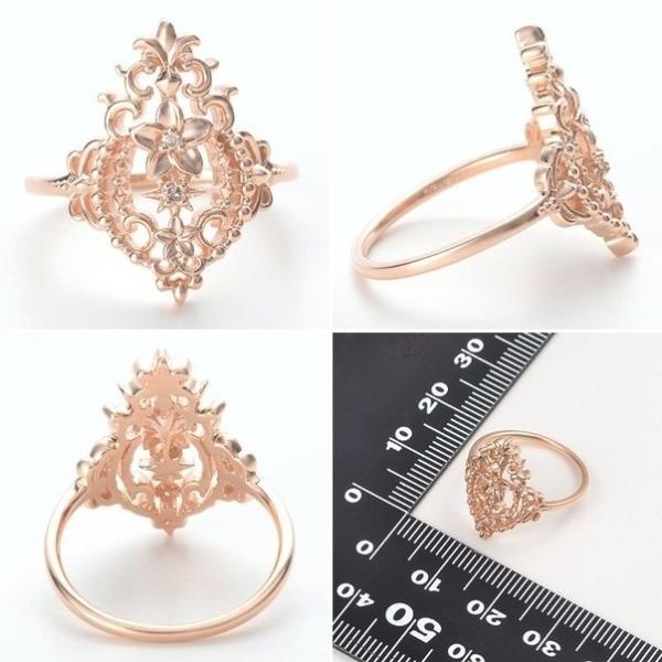 ゴールド リング 指輪 ダイヤモンド 彼女 誕生日プレゼント 記念日 ギフトラッピング  Ache 送料無料 母の日 春コーデ 入学祝い
