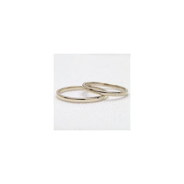 結婚指輪 シンプル ストレート マリッジリング イエローゴールドK18 ペアリング 18金