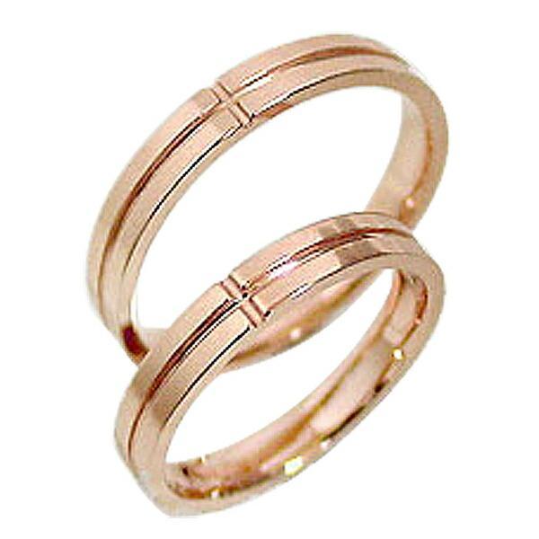 クロス 結婚指輪 マリッジリング ピンクゴールドK10 ペアリング 10金 十字架