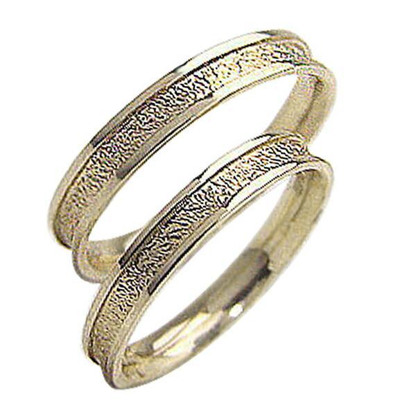 結婚指輪 ペアリング イエローゴールドK18 マリッジリング 粗し 18金  カップル ホワイトデー プレゼント