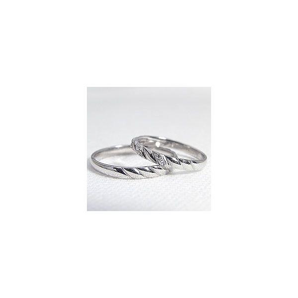 結婚指輪 ダイヤ ペアリング ホワイトゴールドK10 マリッジリング 天然ダイヤモンド  カップル ホワイトデー プレゼント