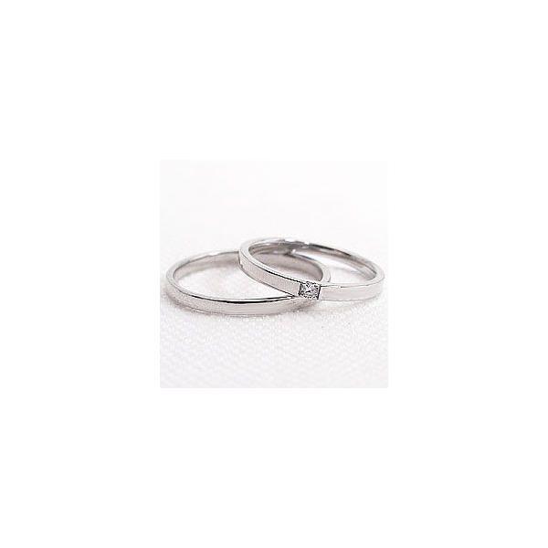 結婚指輪 プラチナ 一粒ダイヤモンド ペアリング Pt900 マリッジリング  カップル ホワイトデー プレゼント