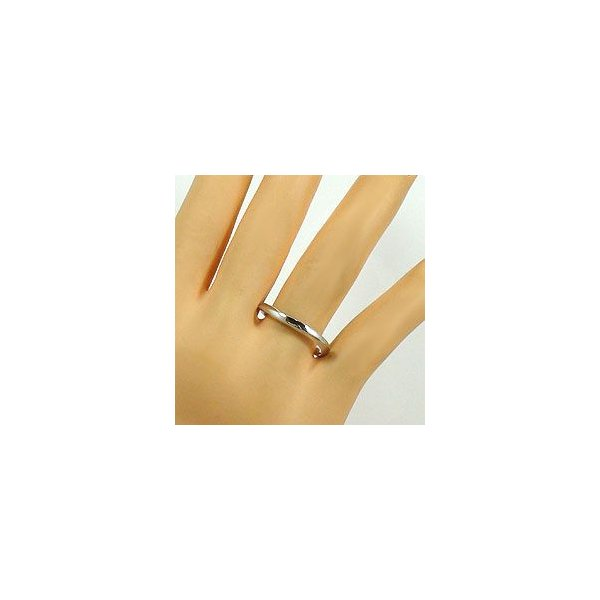 結婚指輪 プラチナ ダイヤモンド マリッジリング カーブデザイン ペアリング Pt900