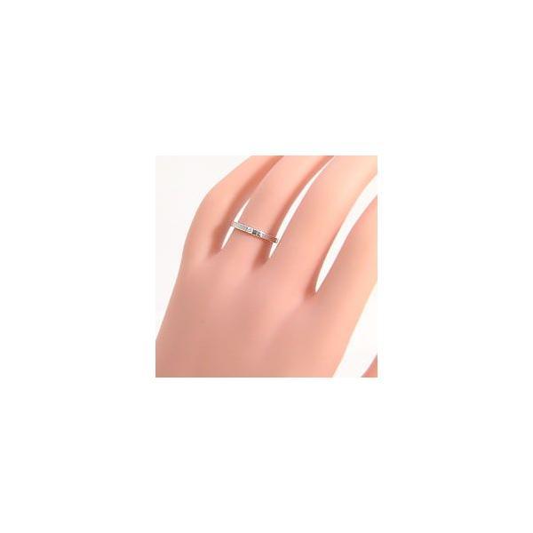 結婚指輪 一粒 ダイヤモンド ブラックダイヤモンド ストレート マリッジリング ホワイトゴールドK18 ペアリング 2本セット