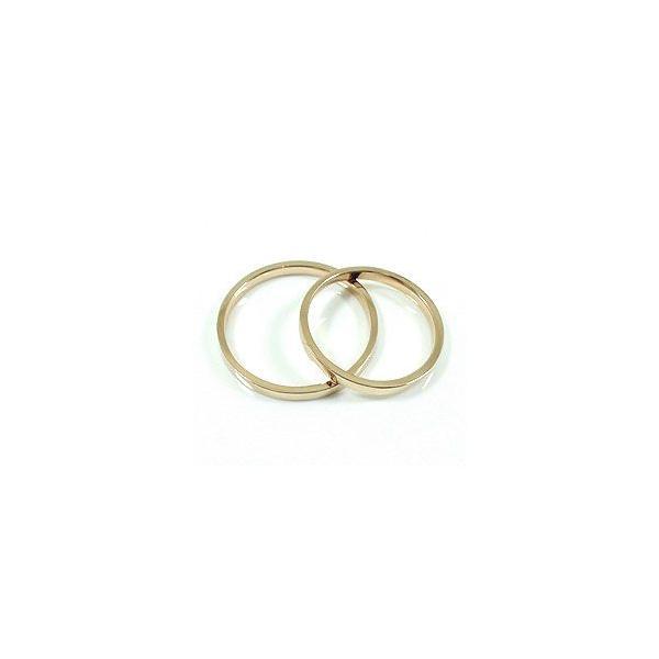 結婚指輪 ペアリング ダイヤモンド イエローゴールドK18 マリッジリング シンプル  カップル ホワイトデー プレゼント