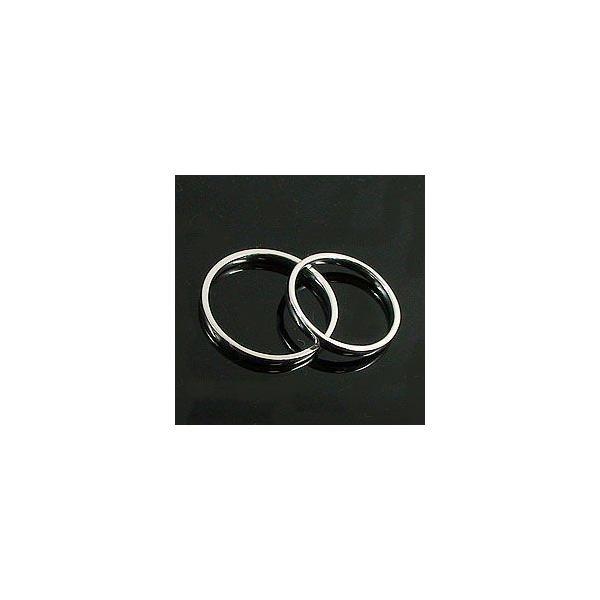 結婚指輪 一粒 ダイヤモンド シンプル ストレート マリッジリング ホワイトゴールドK10 ペアリング 10金