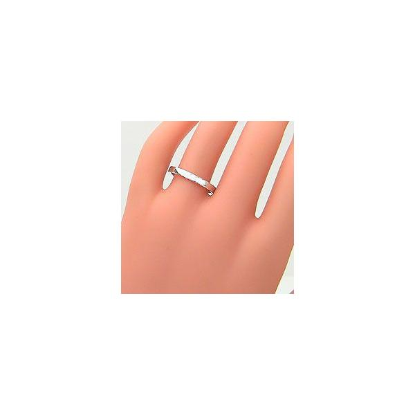 結婚指輪 平打ち 2.5ミリ幅 マリッジリング ホワイトゴールドK18 ペアリング 2本セット