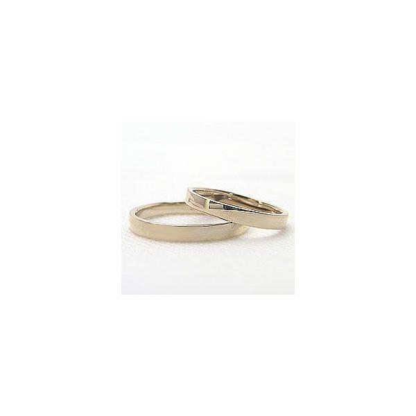 結婚指輪 ペアリング 平打ち2.5mm イエローゴールドK10 マリッジリング K10YG  カップル ホワイトデー プレゼント