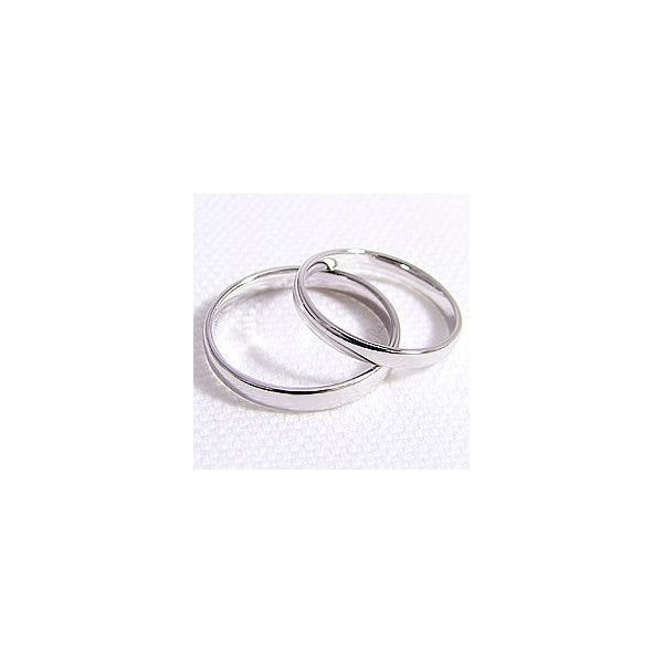 結婚指輪 平甲丸 2.5mm幅 3mm幅 マリッジリング ホワイトゴールドK10 ペアリング 2本セット
