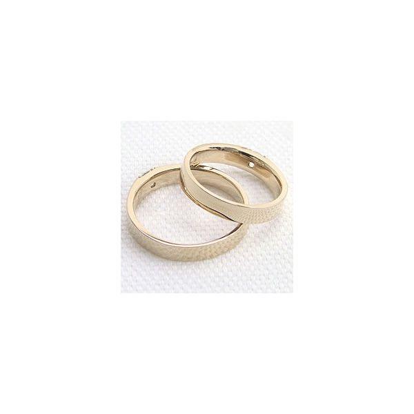 結婚指輪 一粒ダイヤ ダイヤモンド イエローゴールドK18 ペアリング 18金 マリッジリング  カップル ホワイトデー プレゼント