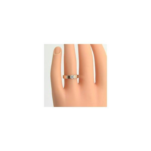 結婚指輪 一粒ダイヤモンド ペアリング イエローゴールドK18 ホワイトゴールドK18 マリッジリング  カップル ホワイトデー プレゼント