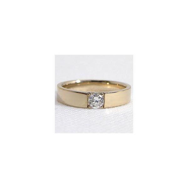一粒ダイヤモンドリング K10YG アクセサリー レディースリング ホワイトデー プレゼント
