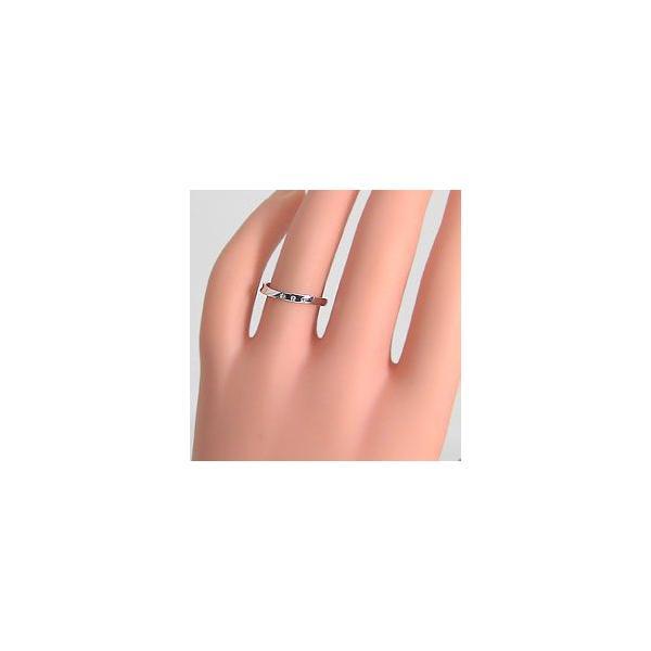 結婚指輪 スリーストーン ダイヤモンド マリッジリング ゴールドK10 ペアリング 2本セット