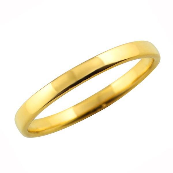 甲丸 指輪 2.5ミリ幅 18金 リング レディース K18 ゴールド シンプル リング 結婚指輪 ペアリング 日本製 ホワイトデー プレゼント