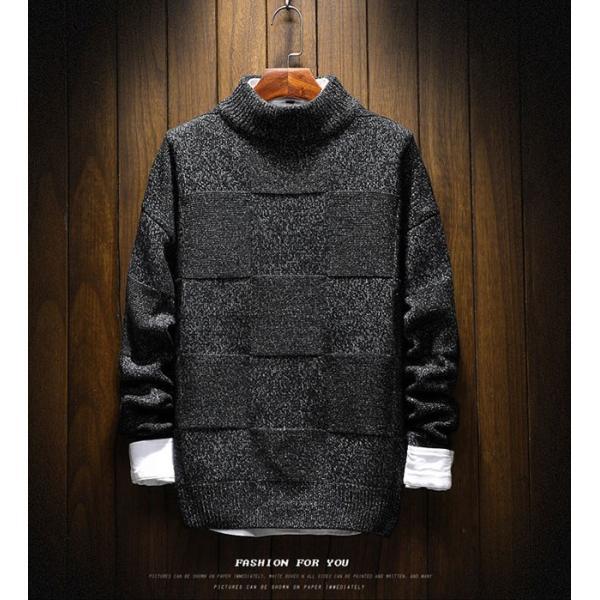 メンズ ニット セーター トップス 長袖 トレンド 秋冬 カジュアル ファッション ルーズ おしゃれ 大きいサイズ jwstore
