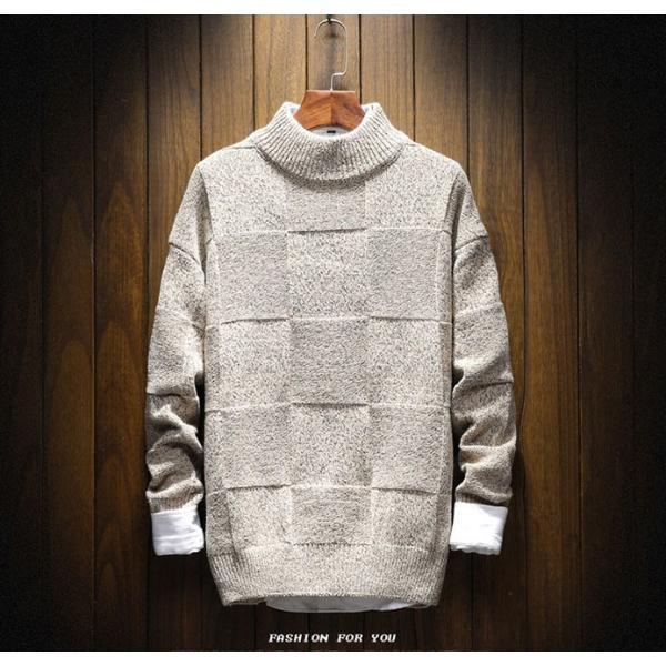 メンズ ニット セーター トップス 長袖 トレンド 秋冬 カジュアル ファッション ルーズ おしゃれ 大きいサイズ jwstore 03