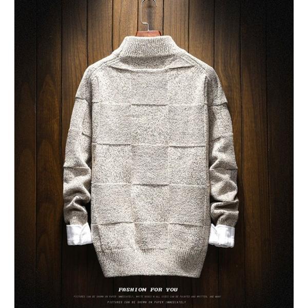 メンズ ニット セーター トップス 長袖 トレンド 秋冬 カジュアル ファッション ルーズ おしゃれ 大きいサイズ jwstore 04