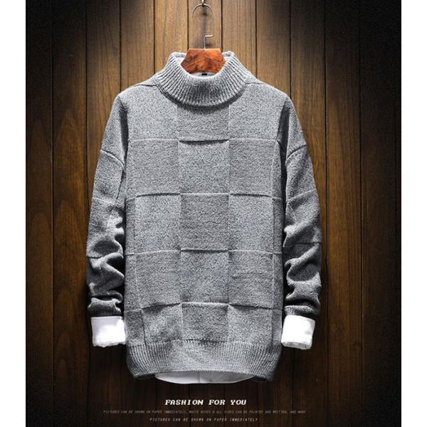 メンズ ニット セーター トップス 長袖 トレンド 秋冬 カジュアル ファッション ルーズ おしゃれ 大きいサイズ jwstore 05