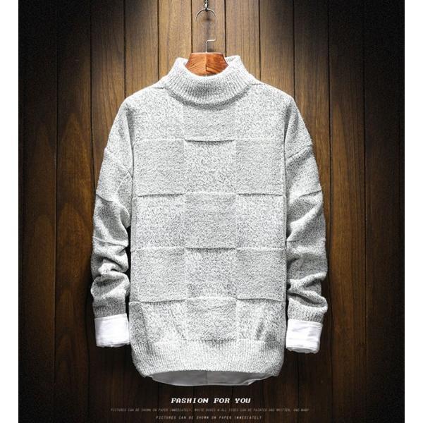 メンズ ニット セーター トップス 長袖 トレンド 秋冬 カジュアル ファッション ルーズ おしゃれ 大きいサイズ jwstore 06