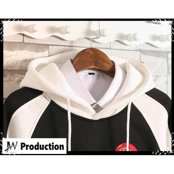 メンズ パーカー トップス プルオーバー 長袖 トレーナー スウェット メンズファッション おしゃれ 大きいサイズ オーバーサイズ 秋冬|jwstore|05