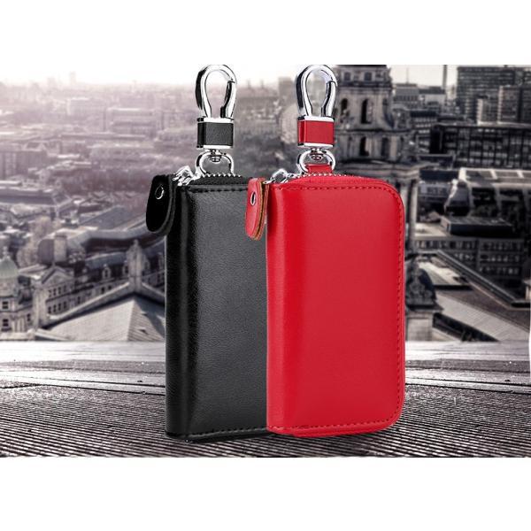 キーケース 鍵 レザー 革 ファッション小物 ケース キーホルダー キーリング スマートキー 雑貨 牛皮 牛革 key002 jwstore 02