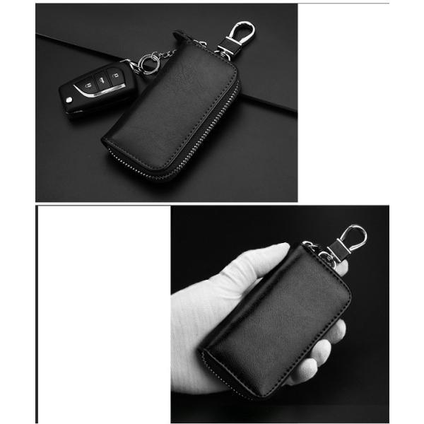 キーケース 鍵 レザー 革 ファッション小物 ケース キーホルダー キーリング スマートキー 雑貨 牛皮 牛革 key002 jwstore 05