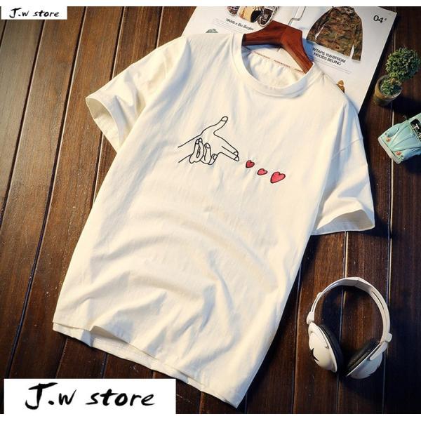 メンズ Tシャツ 半袖 トップス カットソー シャツ クルーネック 丸首 ファッション おしゃれ 大きいサイズ オーバーサイズ 夏 綿 2020 jwstore 02