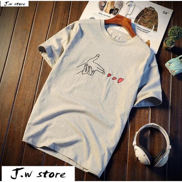 メンズ Tシャツ 半袖 トップス カットソー シャツ クルーネック 丸首 ファッション おしゃれ 大きいサイズ オーバーサイズ 夏 綿 2020 jwstore 04