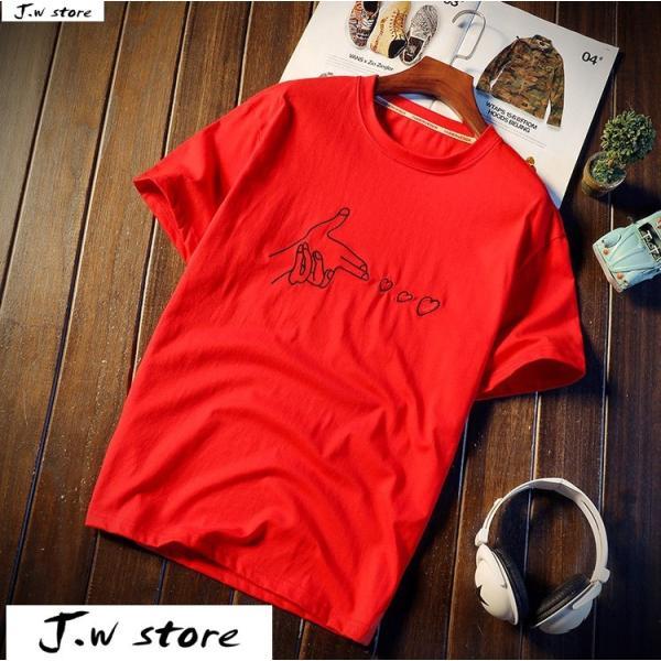 メンズ Tシャツ 半袖 トップス カットソー シャツ クルーネック 丸首 ファッション おしゃれ 大きいサイズ オーバーサイズ 夏 綿 2020 jwstore 05