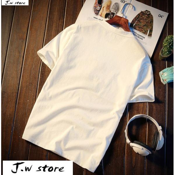 メンズ Tシャツ 半袖 トップス カットソー シャツ クルーネック 丸首 ファッション おしゃれ 大きいサイズ オーバーサイズ 夏 綿 2020 jwstore 06