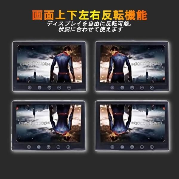 7インチ ミラー型 液晶モニター & 小型 LED バックカメラ セット 防水 防塵 12V車用 170度 夜間暗視 LED 車載 カー用品 日本語対応|jxshoppu|05