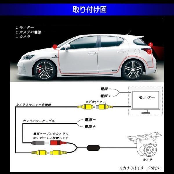 7インチ ミラー型 液晶モニター & 小型 LED バックカメラ セット 防水 防塵 12V車用 170度 夜間暗視 LED 車載 カー用品 日本語対応|jxshoppu|06