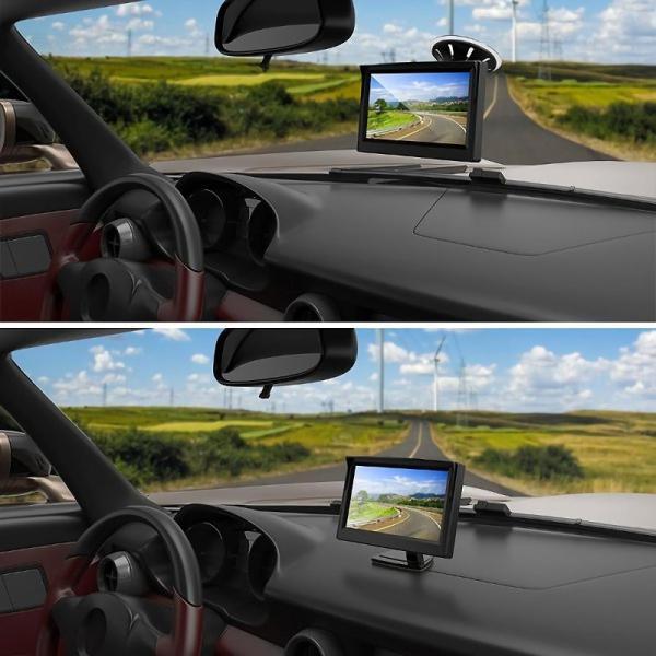 12V車用 オンダッシュモニター 5インチ 液晶モニター バックカメラ スタンド フロント 吸盤で設置可能|jxshoppu|03