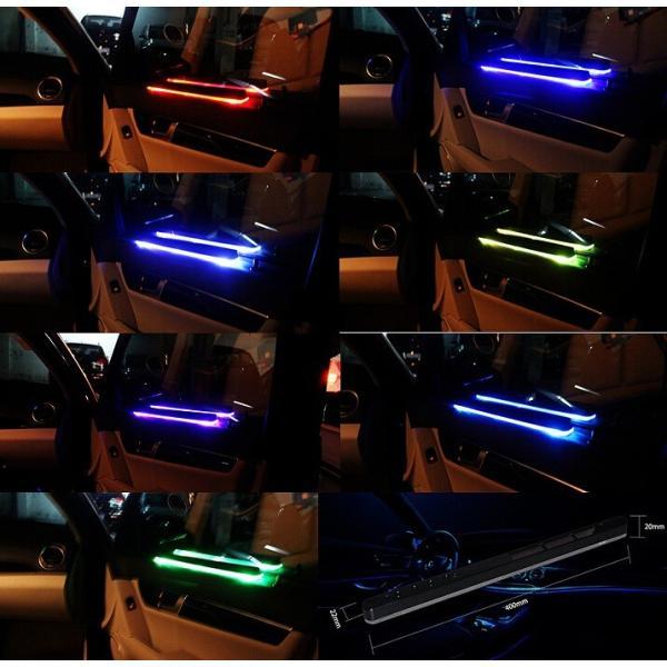 ソーラー式 車 カー 用品 内装 LED ライト 配線 不要 簡単 設置 愛車に高級感と存在感を漂わせる ソーラー車用LEDライト