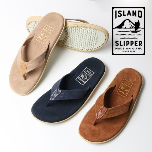 ISLAND SLIPPER アイランドスリッパ スウェード トング レザーサンダル [Lot/PT203] メンズ ブランド 丈夫 頑丈 タフ 夏