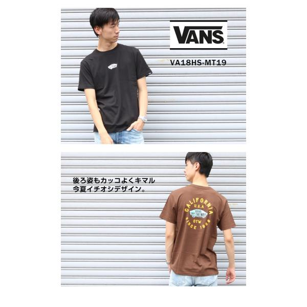 VANS ヴァンズ バンズ Tシャツ オフザウォール バンズロゴ スケートロゴ カリフォルニア バックプリント 半袖 ロゴ VA18HS-MT19 メンズ プリントTシャツ|jxt-style|03