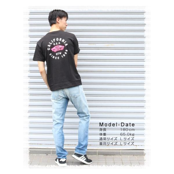 VANS ヴァンズ バンズ Tシャツ オフザウォール バンズロゴ スケートロゴ カリフォルニア バックプリント 半袖 ロゴ VA18HS-MT19 メンズ プリントTシャツ|jxt-style|06