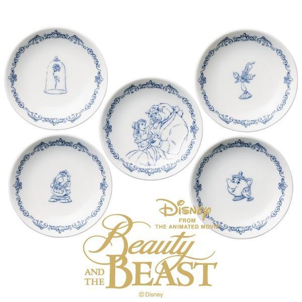 食器セット 小皿5Pセット 美女と野獣 ディズニー D-BB03 J1J|jyoei