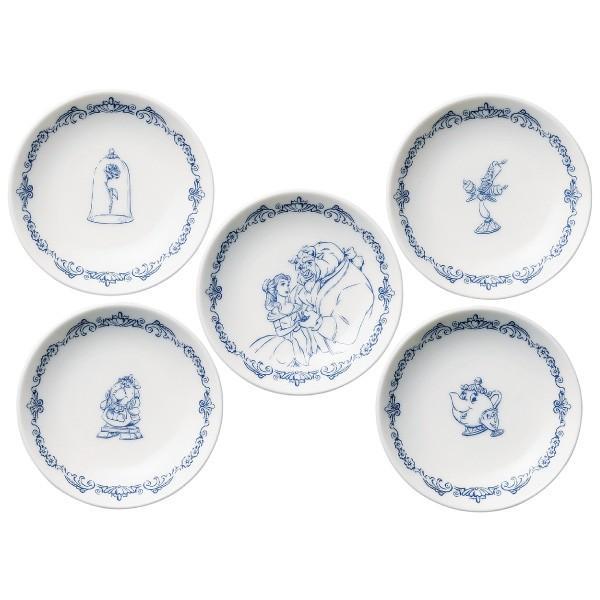 食器セット 小皿5Pセット 美女と野獣 ディズニー D-BB03 J1J|jyoei|03