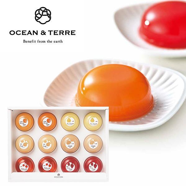 OCEAN&TERRE オーシャンテール Premium フルーツゼリー セットD プレミアム詰め合わせ おしゃれギフト のし ラッピング メッセージカード 手提げ袋 無料