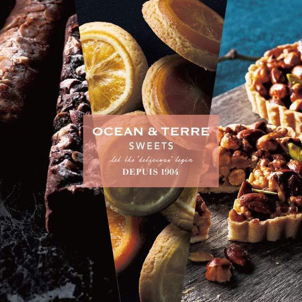 OCEAN&TERRE オーシャンテール  スイーツ カトル・カール ヘーゼルナッツキャラメルタルト アーモンドチョコケーキ オレンジ レモン クッキー 焼き菓子 無料