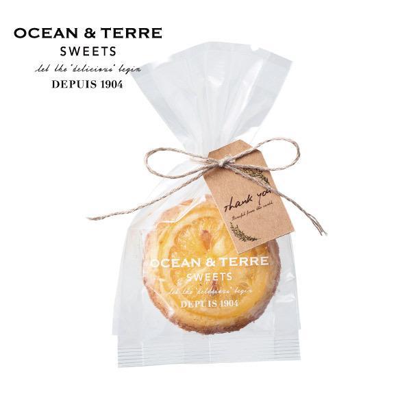 OCEAN&TERRE オーシャンテール  スイーツ レモンクッキー 1個  おしゃれなギフト 内祝い お返し 手土産 のし ラッピング メッセージカード 手提げ袋 無料