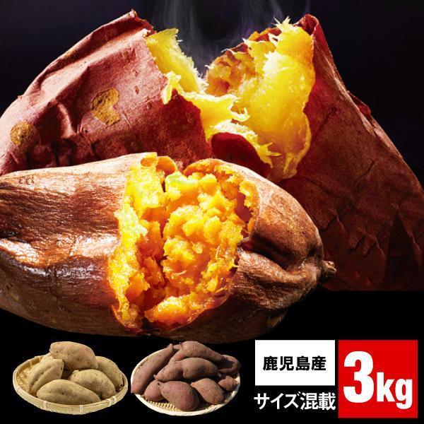 安納芋 & 紅はるか 食べ比べ さつまいも 鹿児島 各1.5kg 合計 3kg 1箱 送料無料 サイズ混載 美味しい 種子島産 安納いも 大隅産 べにはるか
