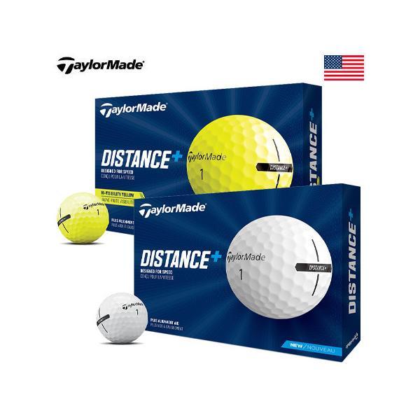 テーラーメイドDistance+ゴルフボール1ダース12球USA直輸入品2021ディスタンスプラス